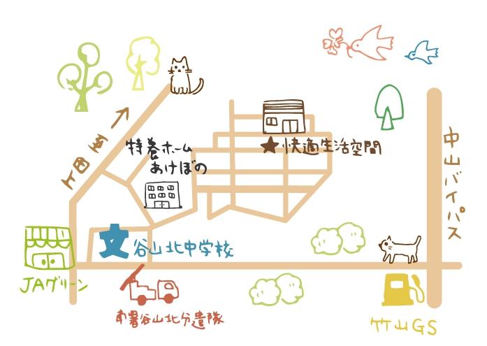 快適生活空間所在地の地図