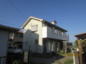 K様邸の外壁屋根塗装工事施工前写真