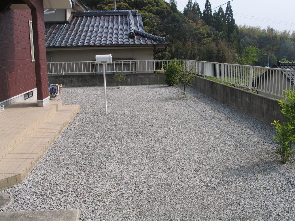 庭外構砂利敷設施工後