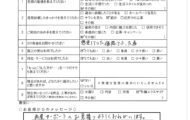 S様邸 システムキッチンワークトップ交換工事 アンケート