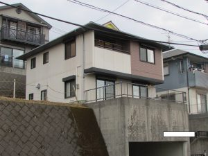O様邸外壁屋根塗装工事施工前写真