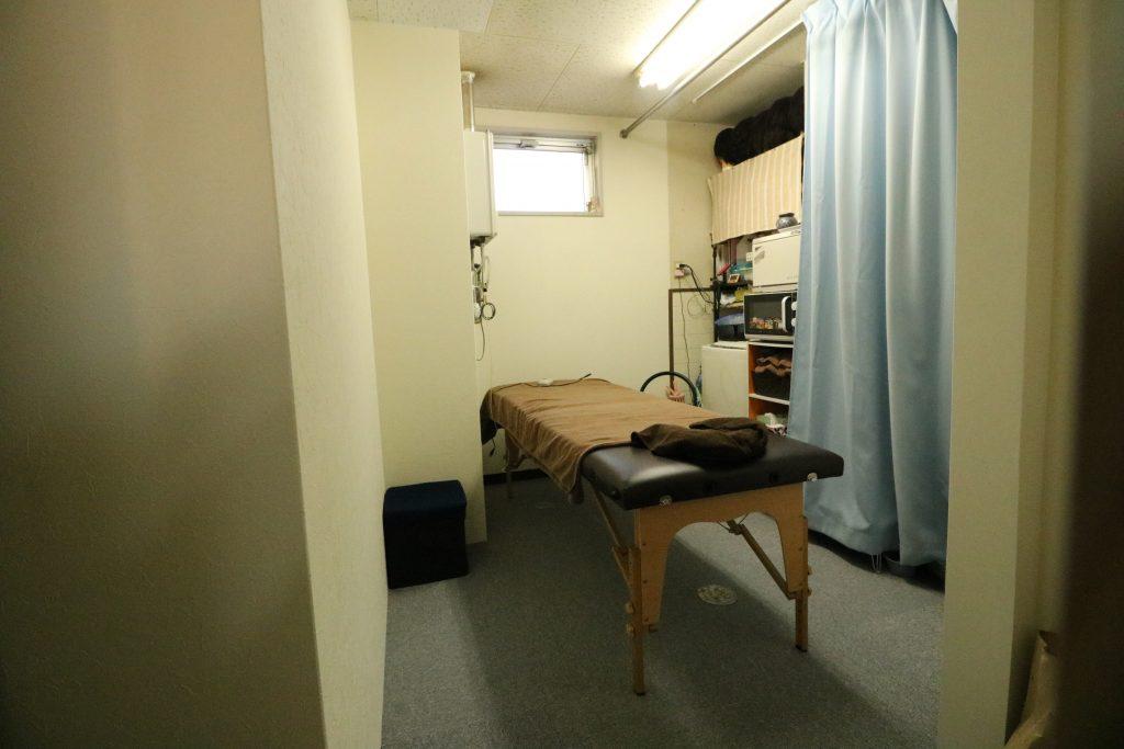 スタッフ用の休憩室がエステ室に変わりました。